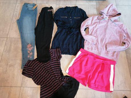 6 szt paka ubran damskich roz. 42 (XL) spodnie, sukienka, bluza...