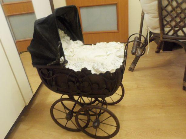 Wózek zabytkowy Retro dla lalki Dekoracja