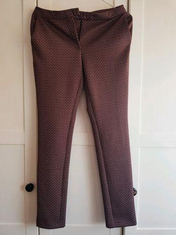 Spodnie w print, Dunnes spodnie we wzór , eleganckie spodnie