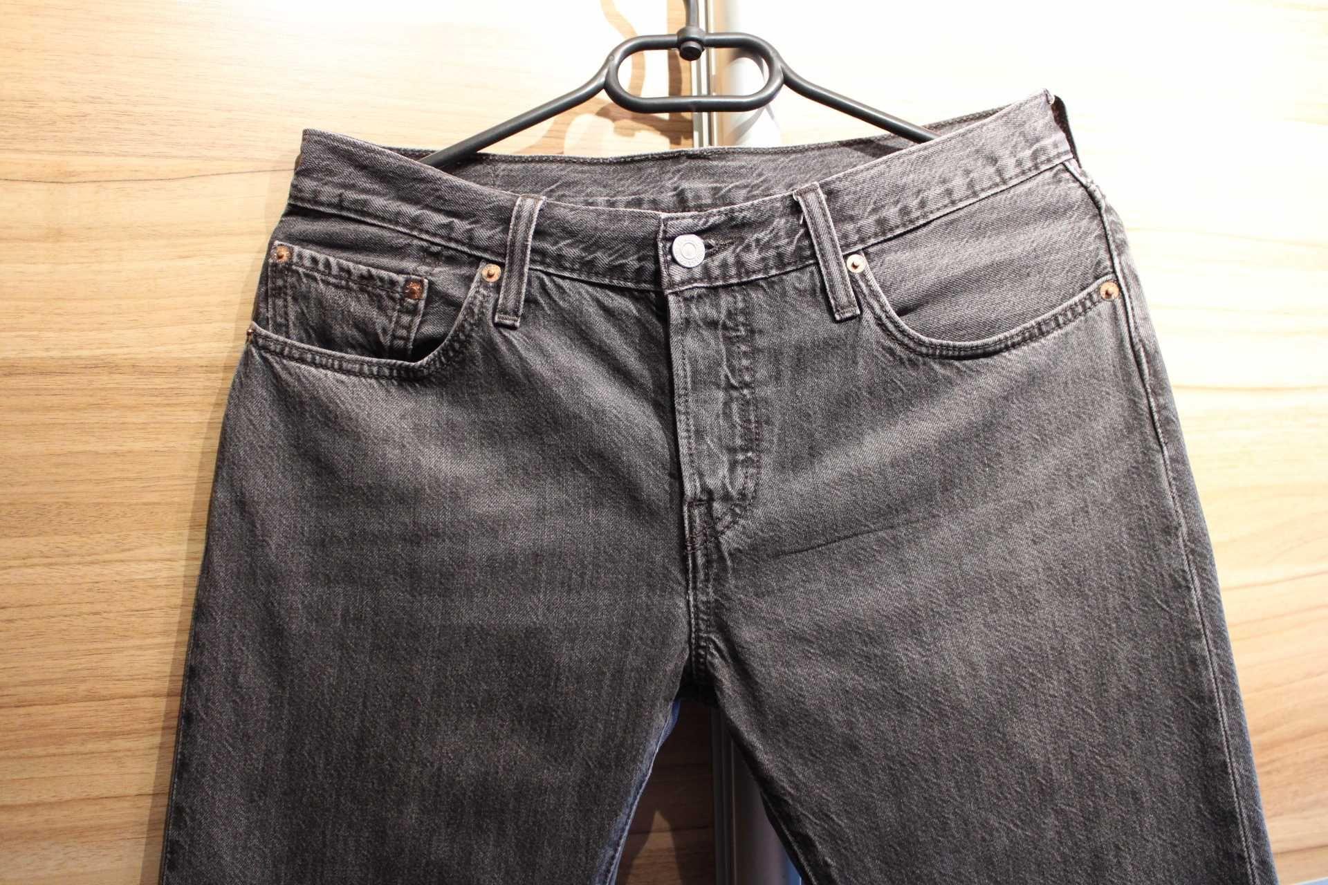 OKAZJA! Spodnie jeans damskie Levis 501,czarne,rozm.26/34,stan bdb