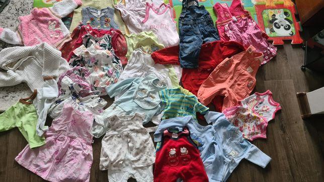Ubranka dla dziewczynki 0-6 56-74