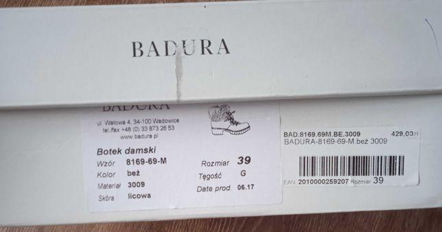Botki skórzane Badura