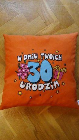 Poduszka dekoracyjna 33x33 na 30tkę prezent w dniu 30tych urodzin