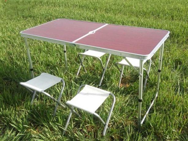 Стол складной раскладной + 4 стула туристический/стіл складний
