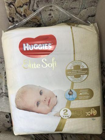 Продам памперси Huggies Elite Soft розмір 2