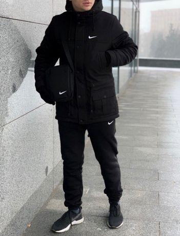 Парка/куртка + штаны Nike + подарок! Зимний спортивный костюм Найк
