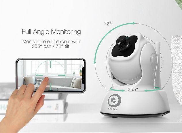 Camera ROTATIVA Video Vigilância Visão Noturna 1080P 360º WiFI 64GB