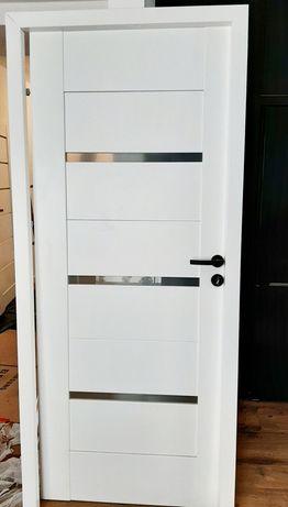 Drzwi pokojowe 80 lewe arson biel arktyczna z regulowaną ościeżnicą