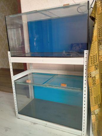 Продам стойку с двумя аквариумами по 170 л