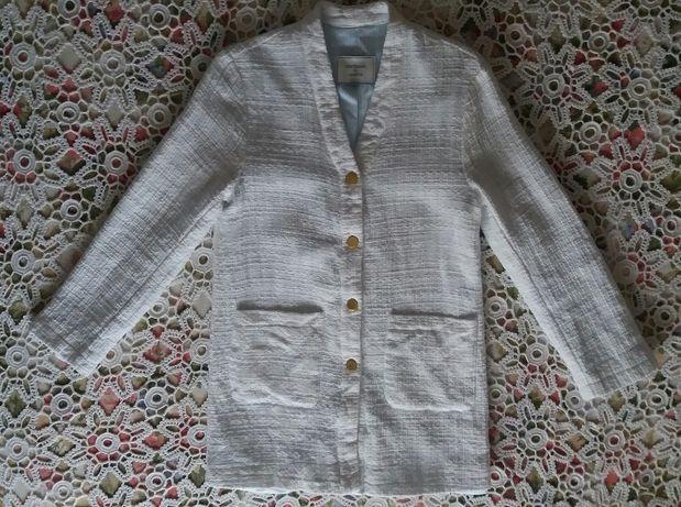 Casaco branco da marca Lanidor, tamanho S