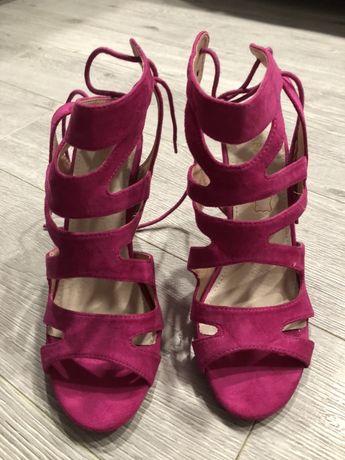 Sandały fioletowe 39