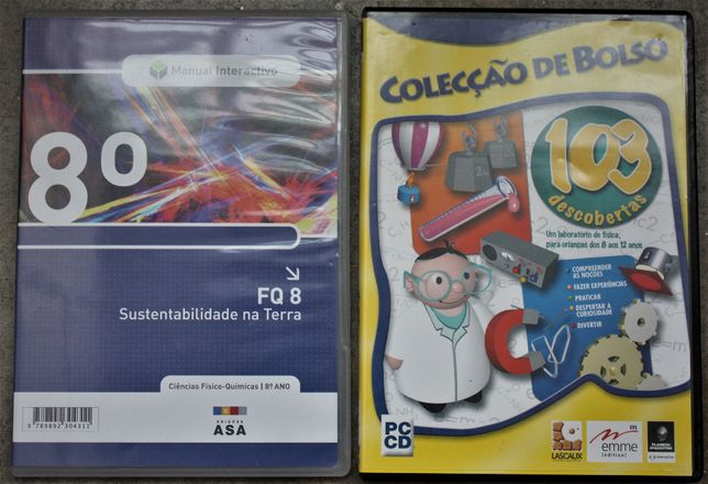 oferta de portes 4 CDs didácticos com jogos, como novos