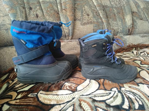 Зимние сапоги ботинки Сноу бутсы детские Columbia, Merrell