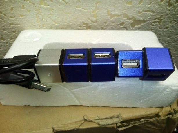 USB хаб разветвитель, удлинитель для ноутбука,компьютера,HUB 4 порта