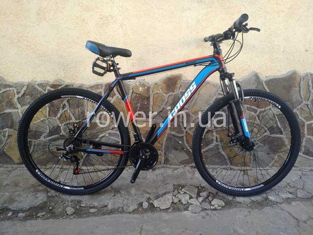 Новий велосипед найнер Cross Hunter 29 Black 2021 / Дискові гальма