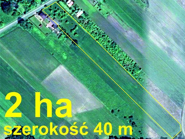 Działka Strykowice 2ha budowlana z budynkiem 40m szerokości Zwoleń