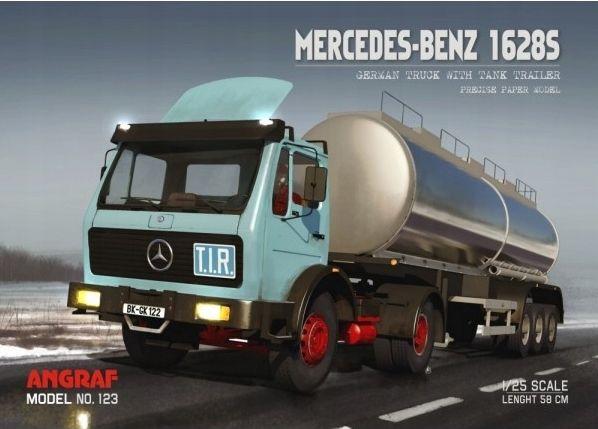 Angraf nr 123 - Mercedes 1628 + naczepa cysterna