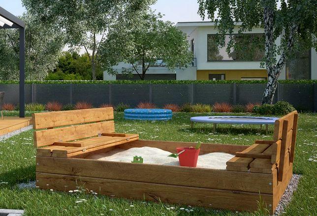 Piaskownica drewniana dla dziecka