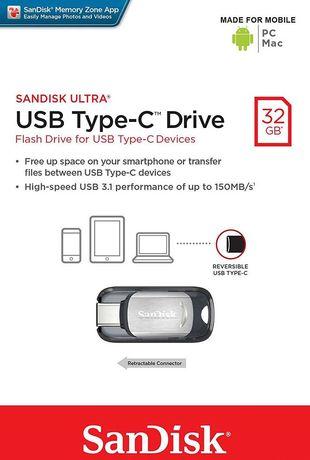 Флешка SanDisk 32 GB USB Ultra Type C