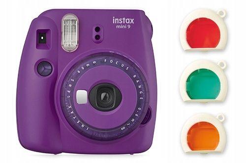 FUJIFILM Instax mini 9 Purple fioletowy aparat drukujący NOWY polaroid