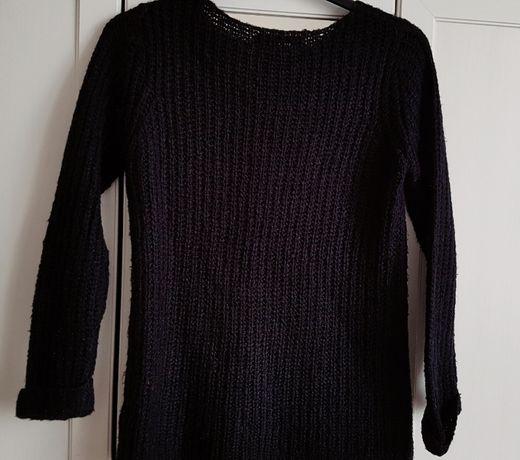 House sweterek czarny pleciony S