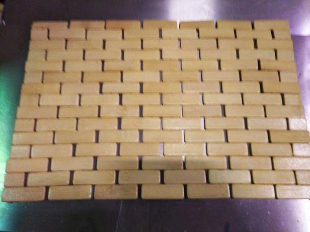 Matka/podkładka drewniana jasne pod talerz 30x42
