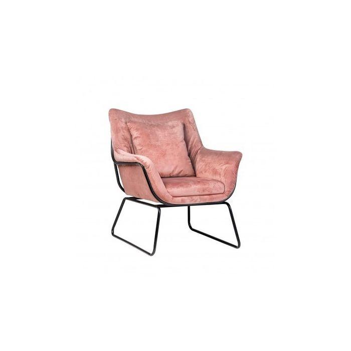 Fotel kavos uszak tapicerowany płozy różowy velvet Wadowice - image 1