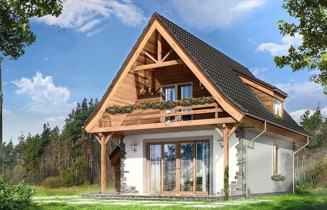 Nowy dom nad jeziorem wg projektu MG Project Chatka 2