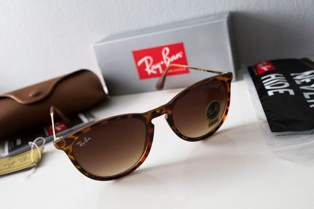 Okulary Ray Ban Erika panterka 4171 matowe brązowe