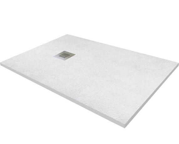 Brodzik biały konglomerat marmur 80x100 i 80x80 90x90