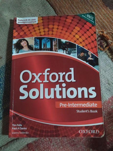 "Podręcznik J.angielski ""Oxford Solutions Pre-Intermediate"""
