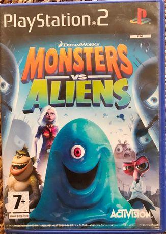 Jogo PS2 Monsters Vs Aliens