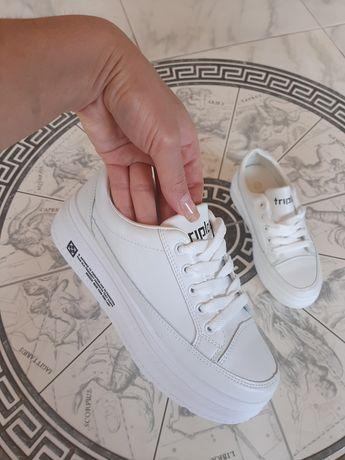 Кроссовки новые белые в наличии 35-40 на платформе ,кеды ,криперы,