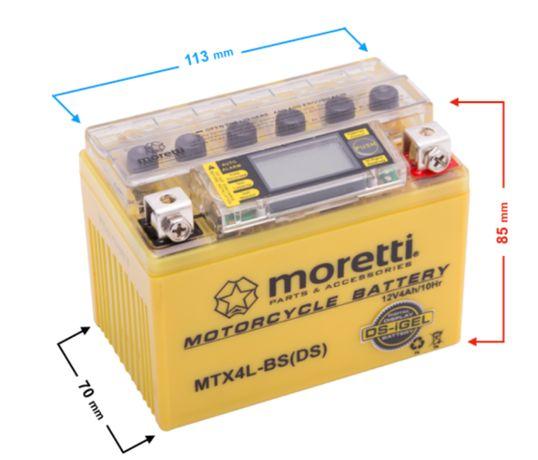 Akumulator do skutera quada żelowy MTX4L-BS z wyświetlaczem LCD