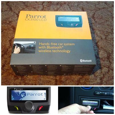 Zestaw głośnomówiący Bluetooth Parrot CK3100 z ekranem LCD.