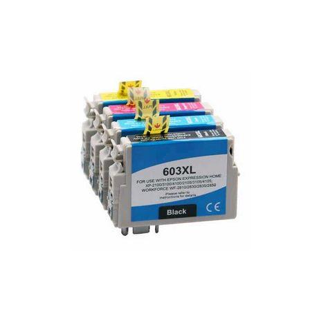 Conjunto 4 Tinteiros Compatíveis Epson 603XL - BK/C/M/Y