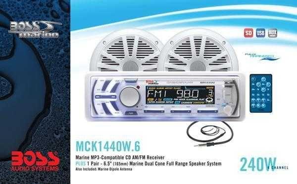 Комплект BOSS Audio Marine MCK1440W.6 морской