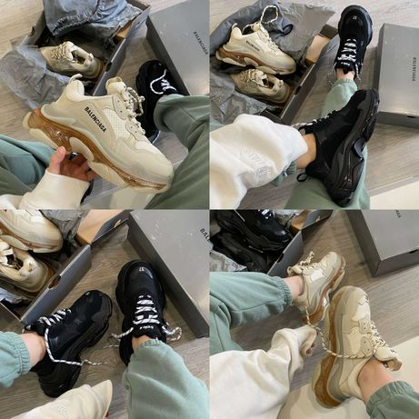 Женские кроссовки Balenciaga Triple S Clear Sole Beige Black 36-41 Топ
