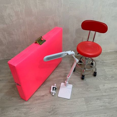 Набор 3в1 кушетка+лампа+стул