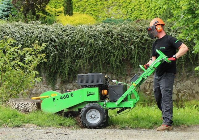 Usuwanie pni-korzeni frezarką, Usługi rębakiem-wycinka drzew, koszenie