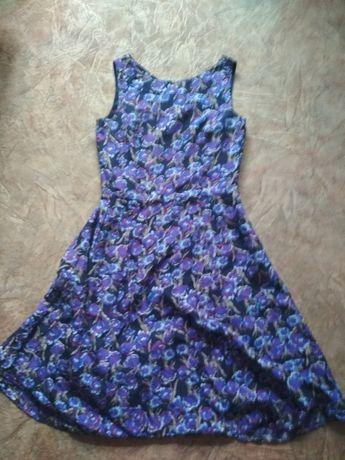 Шелковое платье 14р