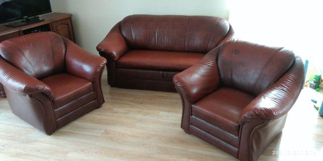 Komplet wypoczynkowy, sofa, fotele zestaw