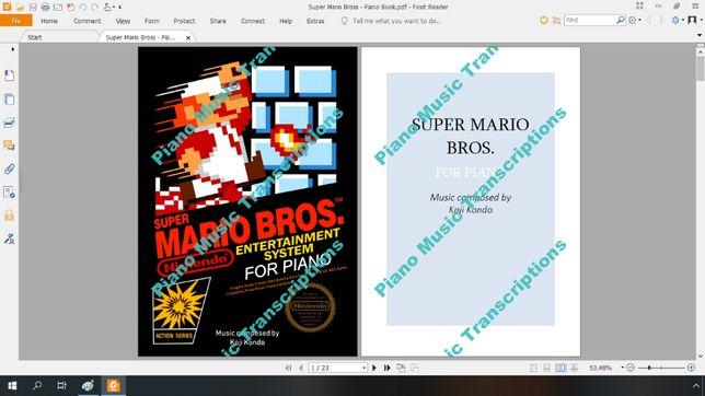 Super Mario Bros nuty na fortepian (Piano Book)