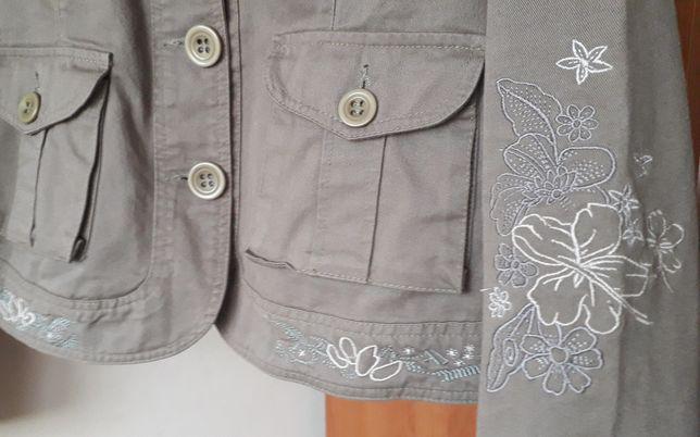 Katana jeansowa Loly r. 36/S kurtka przejściowa hafty
