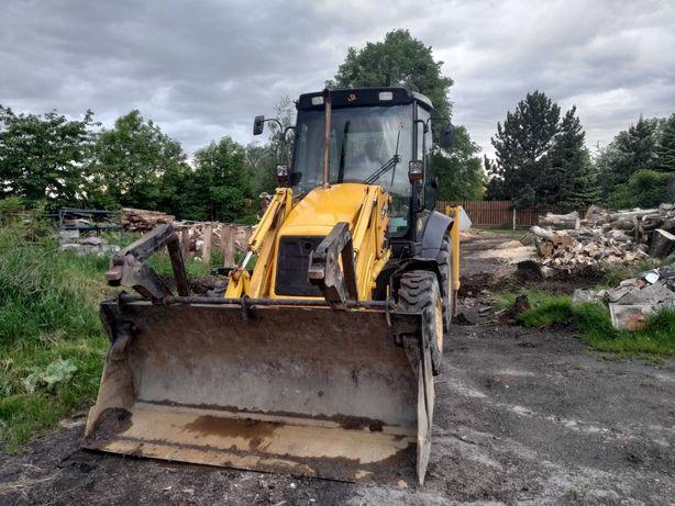 Usługi koparko-ładowarką wywóz ziemi, niwelacja terenu