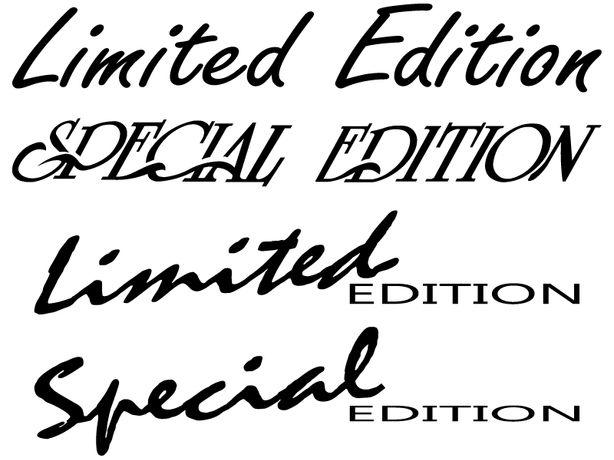 LIMITED SPECIAL EDITION naklejki na samochód - komplet 2 sztuki 48 cm
