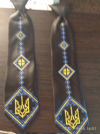 Детский галстук с украинской символикой, длина 30 см