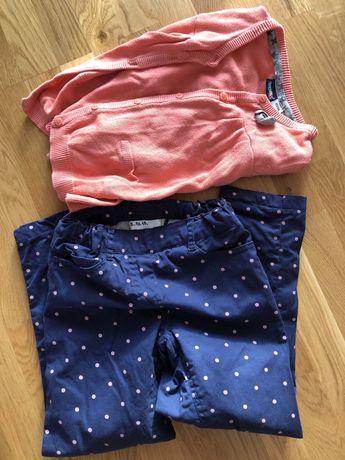 Spodnie ocieplane 5 10 15 rozmiar 116 sweterek 116