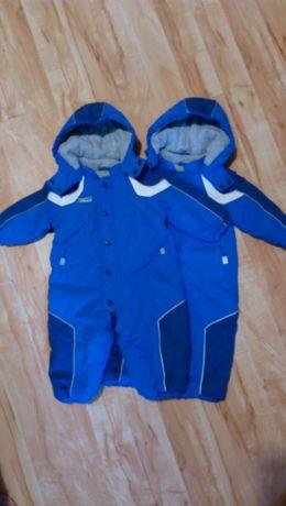 Зимние комбинезоны для двойни, близнецов