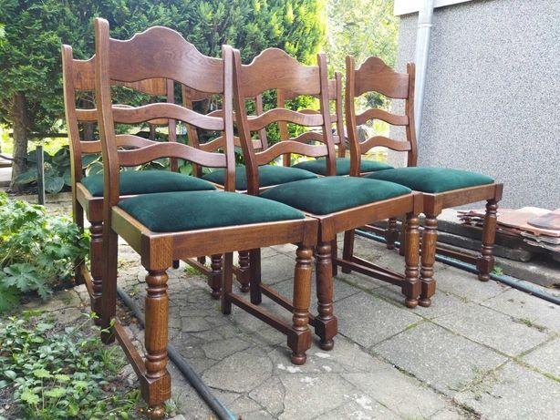 krzesła dębowe drewniane stylowe